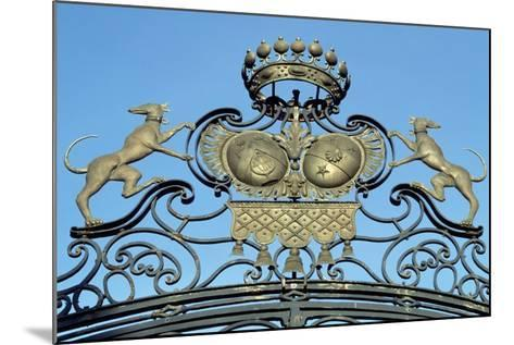 Crest on Gate of Chateau De Jossigny, Ile-De-France, Detail, France--Mounted Giclee Print