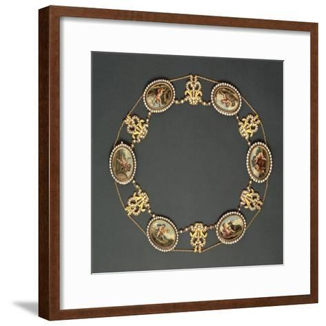 Roman Mosaic, Gold and Seed Pearls Necklace--Framed Art Print