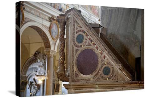 Cosmatesque Pulpit--Stretched Canvas Print