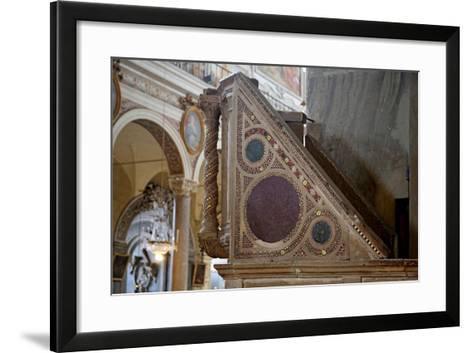Cosmatesque Pulpit--Framed Art Print
