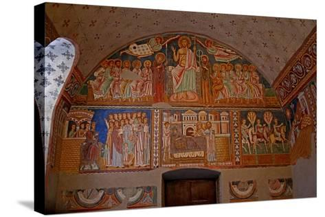 Scenes on the West Wall of the Chapel: from the History of Constantine and St Sylvester--Stretched Canvas Print