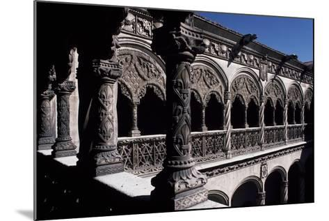 Patio of College of St Gregory, Valladolid, Castile and Leon, Detail, Spain--Mounted Giclee Print