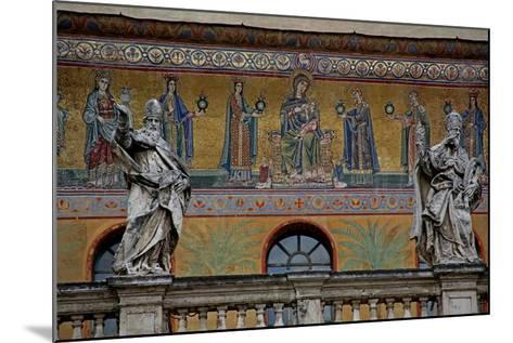 Mosaic on the Façade of St Maria in Trastevere: the Virgin and Child and Women Holding Lamps--Mounted Giclee Print