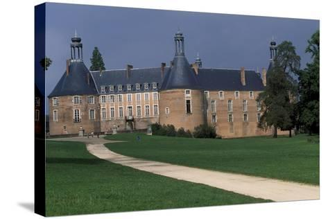 View of Castle of Saint-Fargeau, Burgundy, France, 15th-17th Century--Stretched Canvas Print
