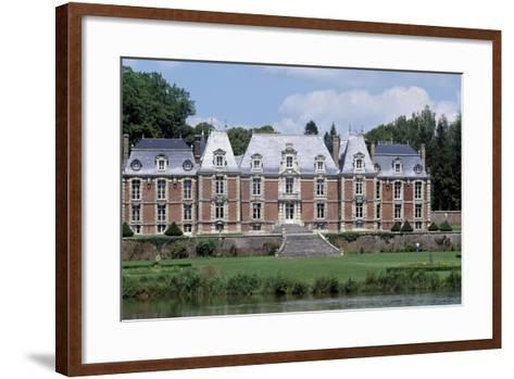 Park and Facade of Chateau De Suzanne, Picardy, France, 17th-19th Century--Framed Art Print