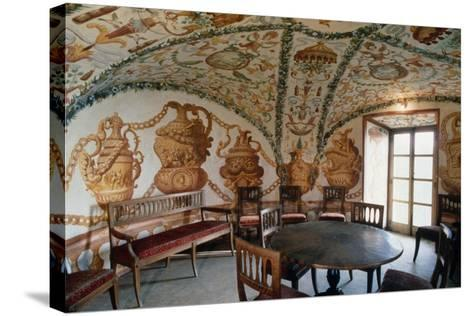 View of Tea Room, Masino Castle, Caravino, Piedmont, Italy--Stretched Canvas Print