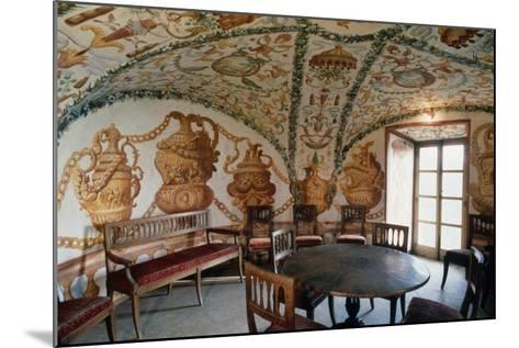 View of Tea Room, Masino Castle, Caravino, Piedmont, Italy--Mounted Giclee Print