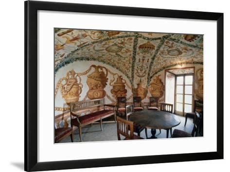 View of Tea Room, Masino Castle, Caravino, Piedmont, Italy--Framed Art Print