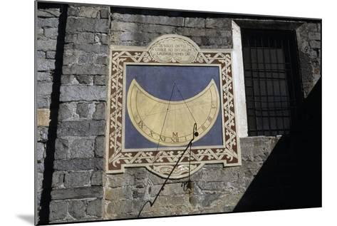 Sundial, Southern Facade of Church of Sant'Ambrogio, Omegna, Piedmont, Italy--Mounted Giclee Print