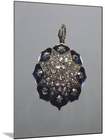 Enameled Gold and Diamonds Pendant--Mounted Giclee Print
