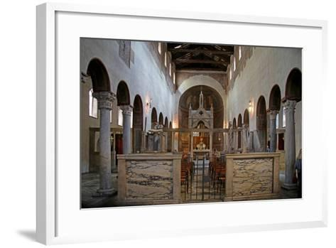 Nave and View to the East--Framed Art Print