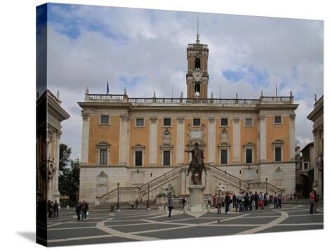 The Piazza Del Campidoglio--Stretched Canvas Print