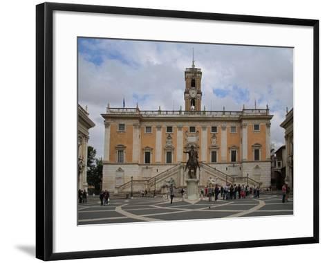 The Piazza Del Campidoglio--Framed Art Print