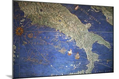 Vatican Museum: Map of Italy--Mounted Giclee Print