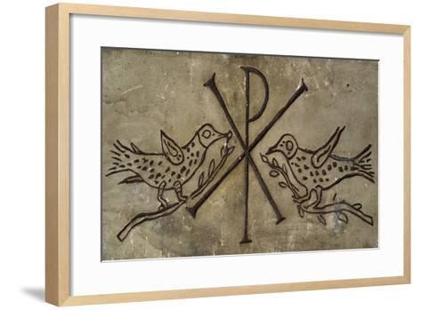 Frieze with the Early Christian Symbol of Peace--Framed Art Print