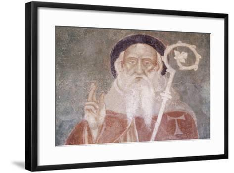 St Anthony from Chapel Saint-Antoine, Bessans, Rhone-Alpes. Detail. France, 16th Century.--Framed Art Print