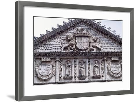 Spain, Castile and Leon, Valladolid, Convent of San Pablo, Facade Detail--Framed Art Print