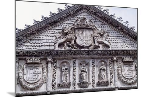 Spain, Castile and Leon, Valladolid, Convent of San Pablo, Facade Detail--Mounted Giclee Print