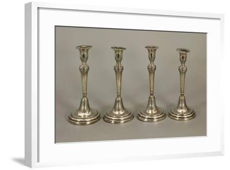 Silver Candlesticks--Framed Art Print