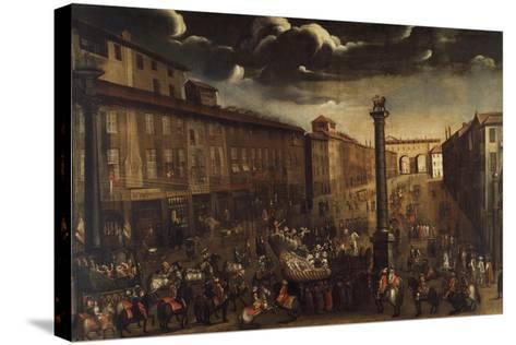 Carnival in Corso Venezia in Milan--Stretched Canvas Print