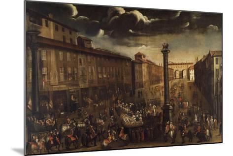 Carnival in Corso Venezia in Milan--Mounted Giclee Print