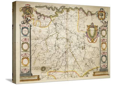Brabant from Theatrum Orbis Terrarum by Willem Bleau, Amsterdam, 1635-1645--Stretched Canvas Print
