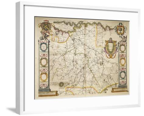 Brabant from Theatrum Orbis Terrarum by Willem Bleau, Amsterdam, 1635-1645--Framed Art Print