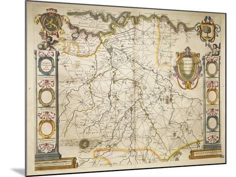 Brabant from Theatrum Orbis Terrarum by Willem Bleau, Amsterdam, 1635-1645--Mounted Giclee Print