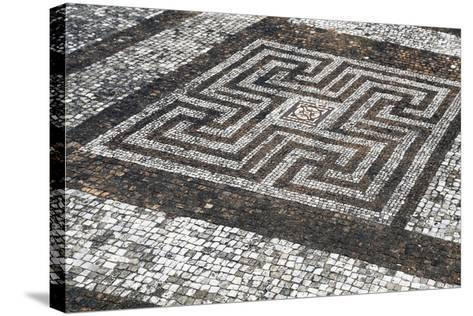 Mosaic Floors, Rockbourne Roman Villa, Hampshire, England, United Kingdom--Stretched Canvas Print