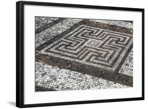 Mosaic Floors, Rockbourne Roman Villa, Hampshire, England, United Kingdom--Framed Art Print