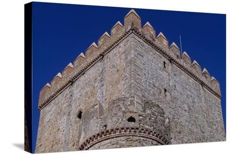 Spain, Extremadura, Castle of Nogales, Fortified Wall--Stretched Canvas Print