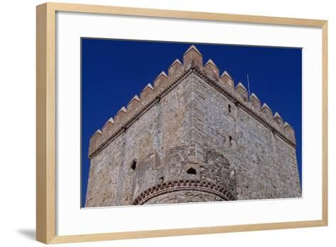 Spain, Extremadura, Castle of Nogales, Fortified Wall--Framed Art Print