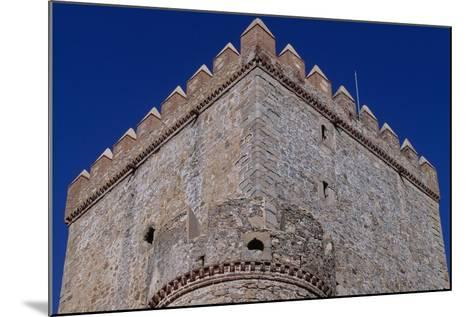 Spain, Extremadura, Castle of Nogales, Fortified Wall--Mounted Giclee Print