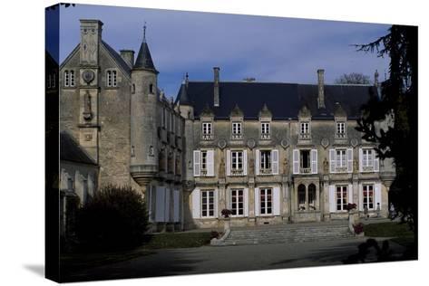 View of Castle of Terre-Neuve, 1580, Fontenay-Le-Comte, Loire, France, 16th Century--Stretched Canvas Print