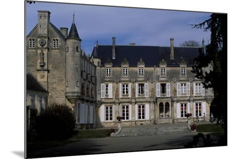 View of Castle of Terre-Neuve, 1580, Fontenay-Le-Comte, Loire, France, 16th Century--Mounted Giclee Print