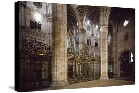 Bronze and Wrought Iron Railing Separating Transept from Nave, 1660--Stretched Canvas Print