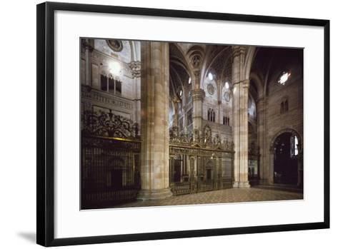 Bronze and Wrought Iron Railing Separating Transept from Nave, 1660--Framed Art Print