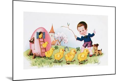 Happy Easter--Mounted Giclee Print