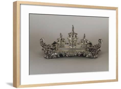 Silver Desk Set, Neo Rococo Style--Framed Art Print