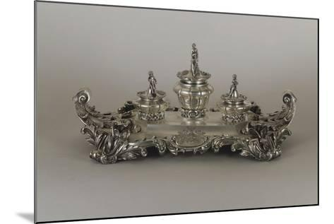 Silver Desk Set, Neo Rococo Style--Mounted Giclee Print
