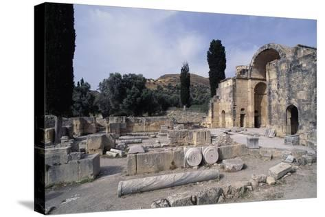 Ruins of the Basilica of Agios Titos, Gortis or Gortyn, Crete, Greece, 6th Century--Stretched Canvas Print
