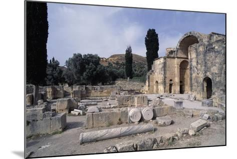 Ruins of the Basilica of Agios Titos, Gortis or Gortyn, Crete, Greece, 6th Century--Mounted Giclee Print