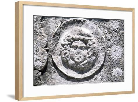 Relief of Sarcophagus in Acropolis of Termessus, Turkey, Detail--Framed Art Print