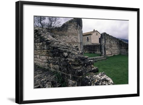 Ruins of Roman Houses, Ancient Roman City of Saepinum, Sepino, Molise, Italy--Framed Art Print