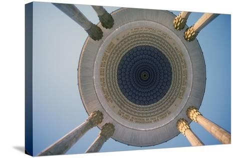 Monument to the Poet Navoi, Tashkent, Uzbekistan--Stretched Canvas Print