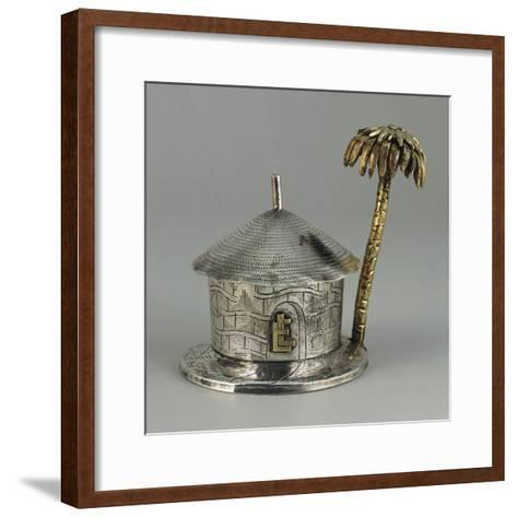Silver, Similar Gold, Hut Shaped Bombonniere with Palm--Framed Art Print