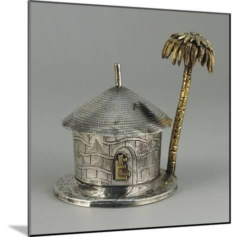 Silver, Similar Gold, Hut Shaped Bombonniere with Palm--Mounted Giclee Print