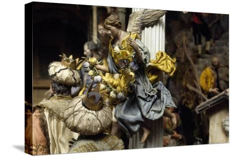 Magi and Angel, Neapolitan Nativity Figurines from 18th Century--Stretched Canvas Print
