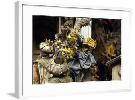 Magi and Angel, Neapolitan Nativity Figurines from 18th Century--Framed Art Print