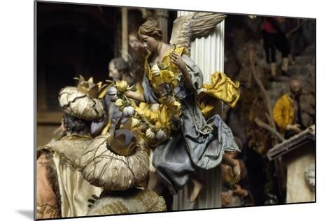 Magi and Angel, Neapolitan Nativity Figurines from 18th Century--Mounted Giclee Print